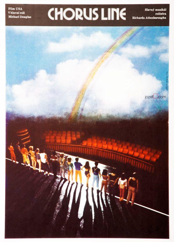 A Chorus Line Film Poster, 80s Cinema Art