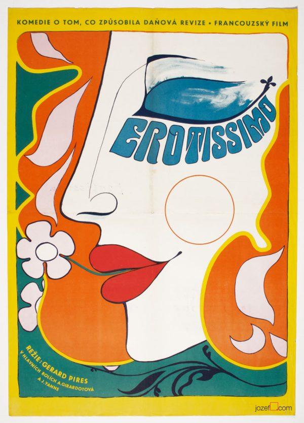 Erotissimo Film Poster, Vintage Poster