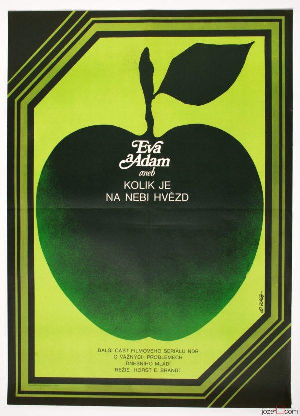 Eva and Adam Film Poster, 70s Poster Art