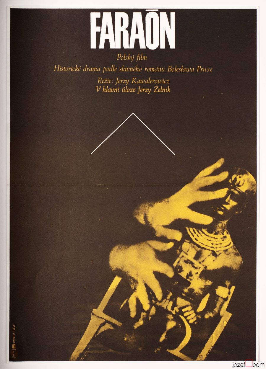 Pharaoh Movie Poster, 1980s Zdenek Ziegler