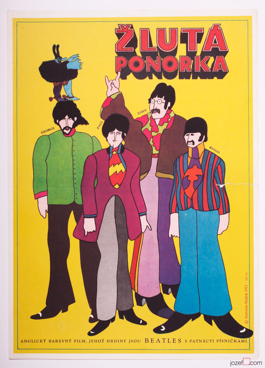 Yellow Submarine, The Beatles, Illustrated Movie Poster