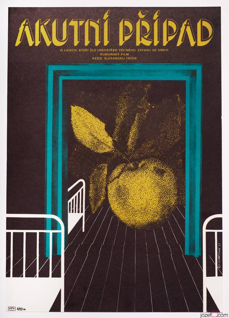 Red Apples Film Poster, Abstract Graphic Design