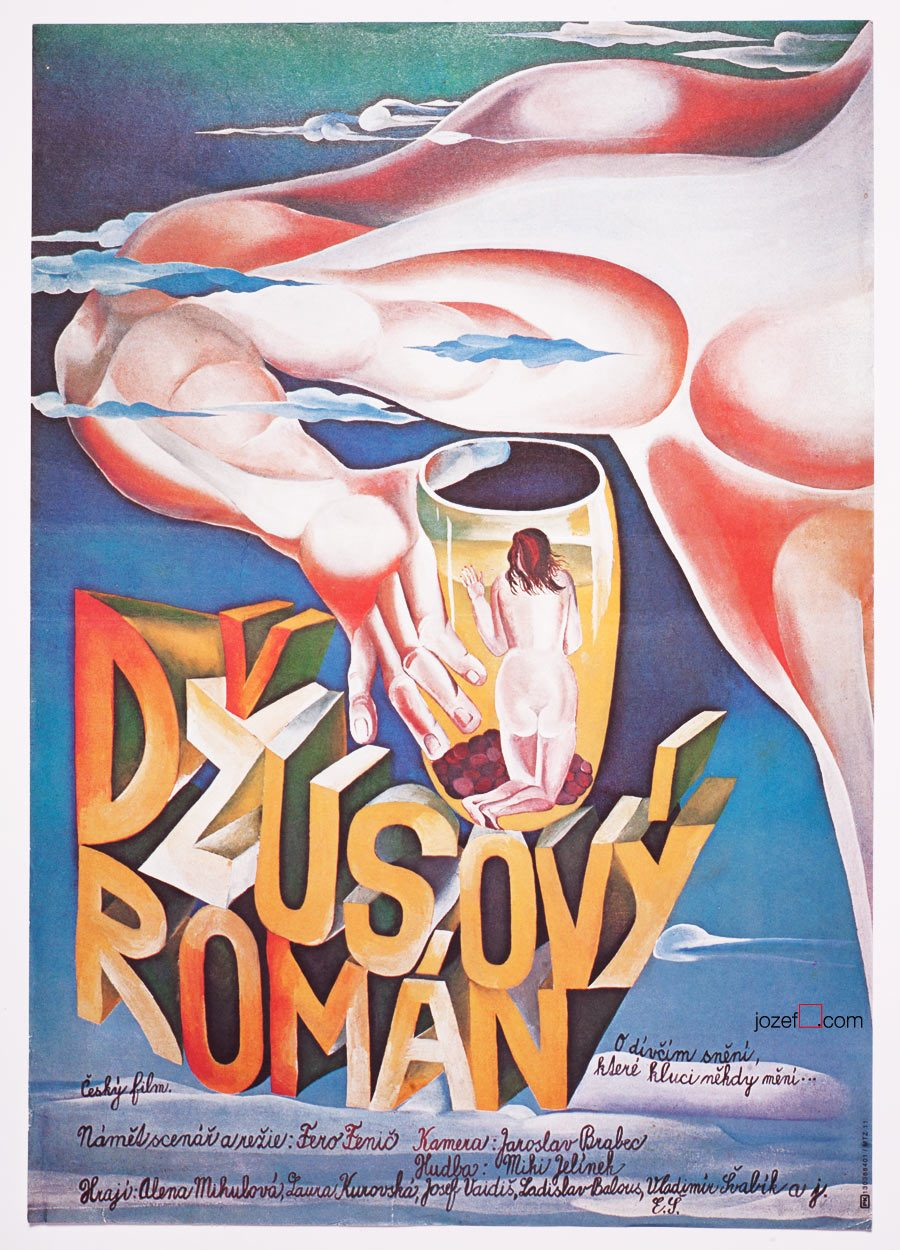 Surreal Poster, Juice Romance, Illustrated Vintage Poster