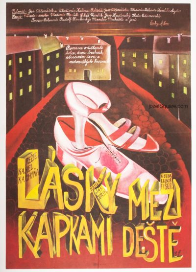 Movie Poster, Love Between the Raindrops, Karel Kachyna