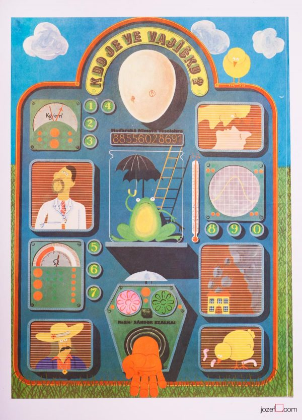 Vintage Poster, Who Is In the Egg, Hungarian Cinema