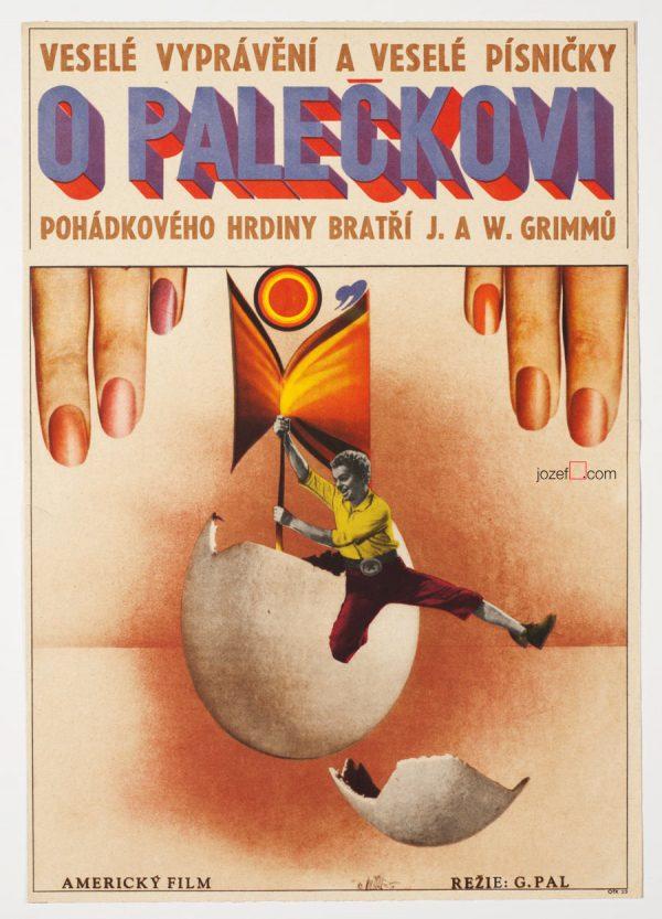 Tom Thumb, 60s Vintage Movie Poster