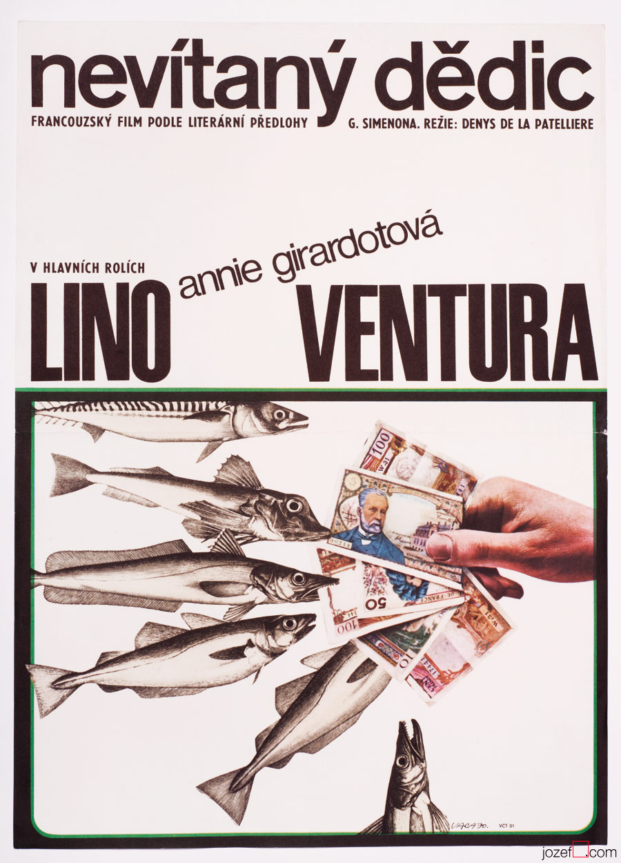 Emile's Boat, Lino Ventura, Movie Poster