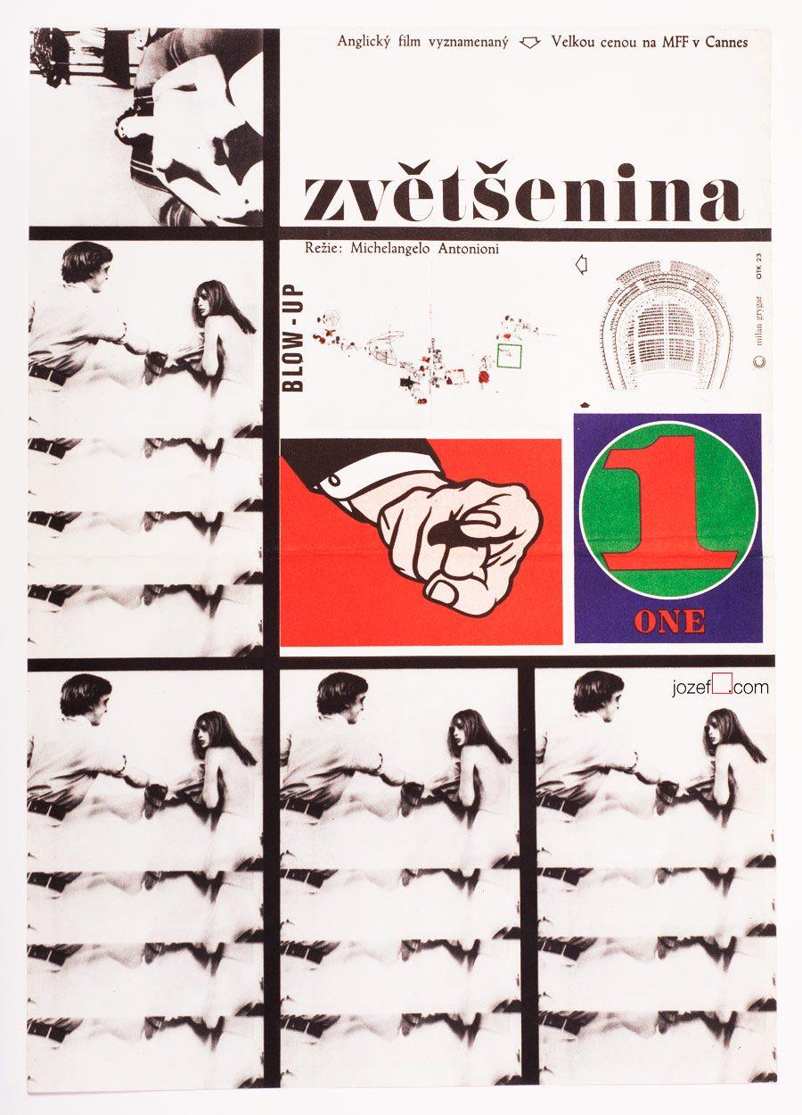 Blow-Up, Michelangelo Antonioni, Movie Poster