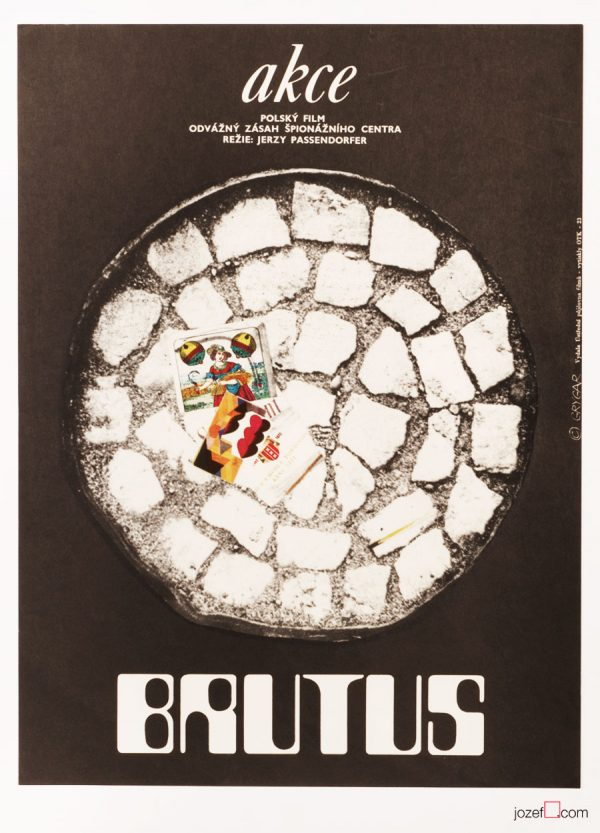 Vintage Movie Poster, Operation Brutus, Polish Cinema
