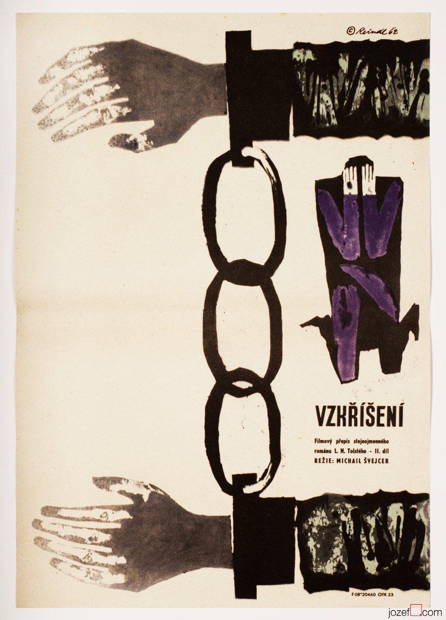 Resurrection, 60s Movie Poster, Russian Cinema