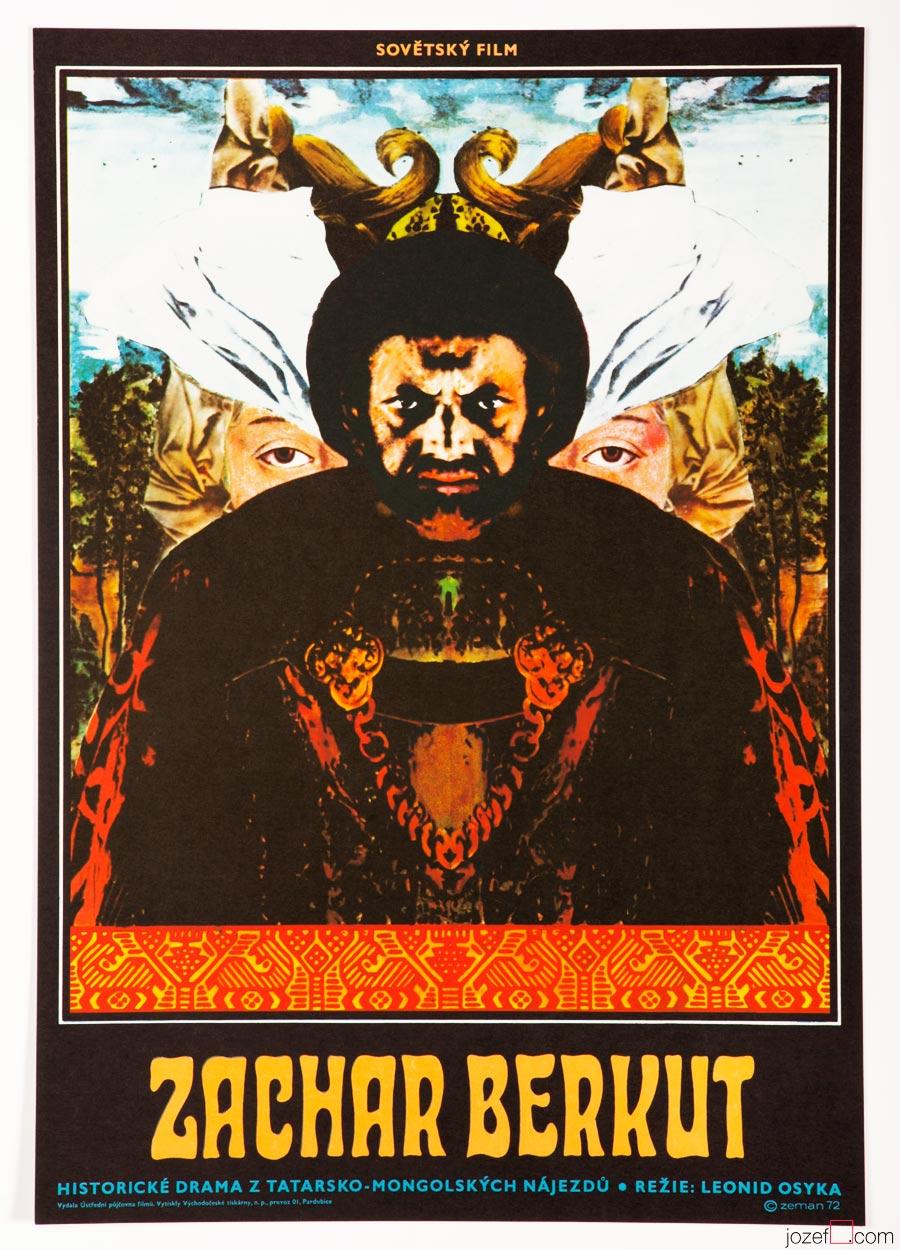 Zakhar Berkut Film Poster, 70s Surreal Poster Art