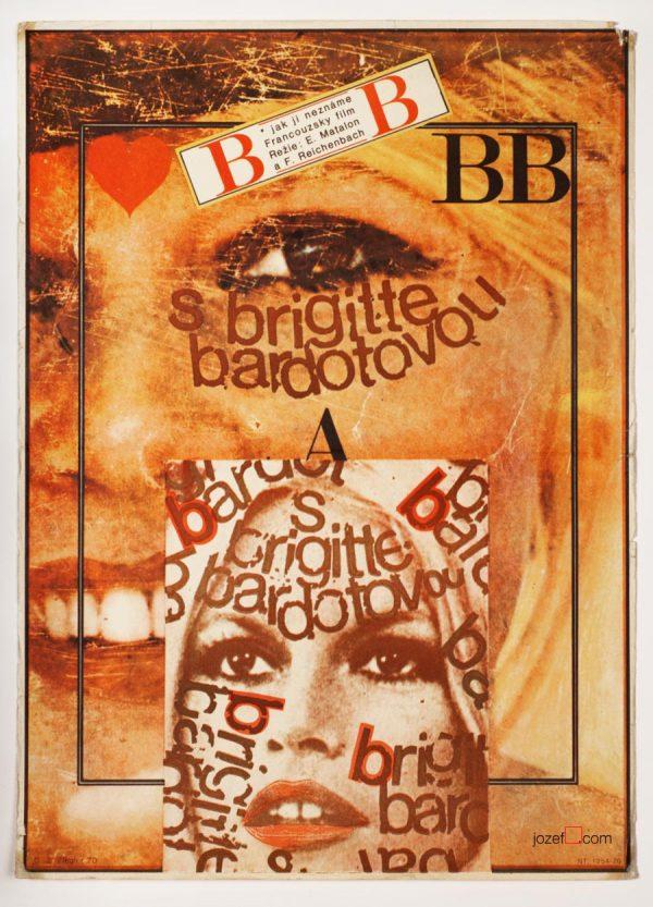 Brigitte Bardot, Movie Poster, Zdenek Ziegler