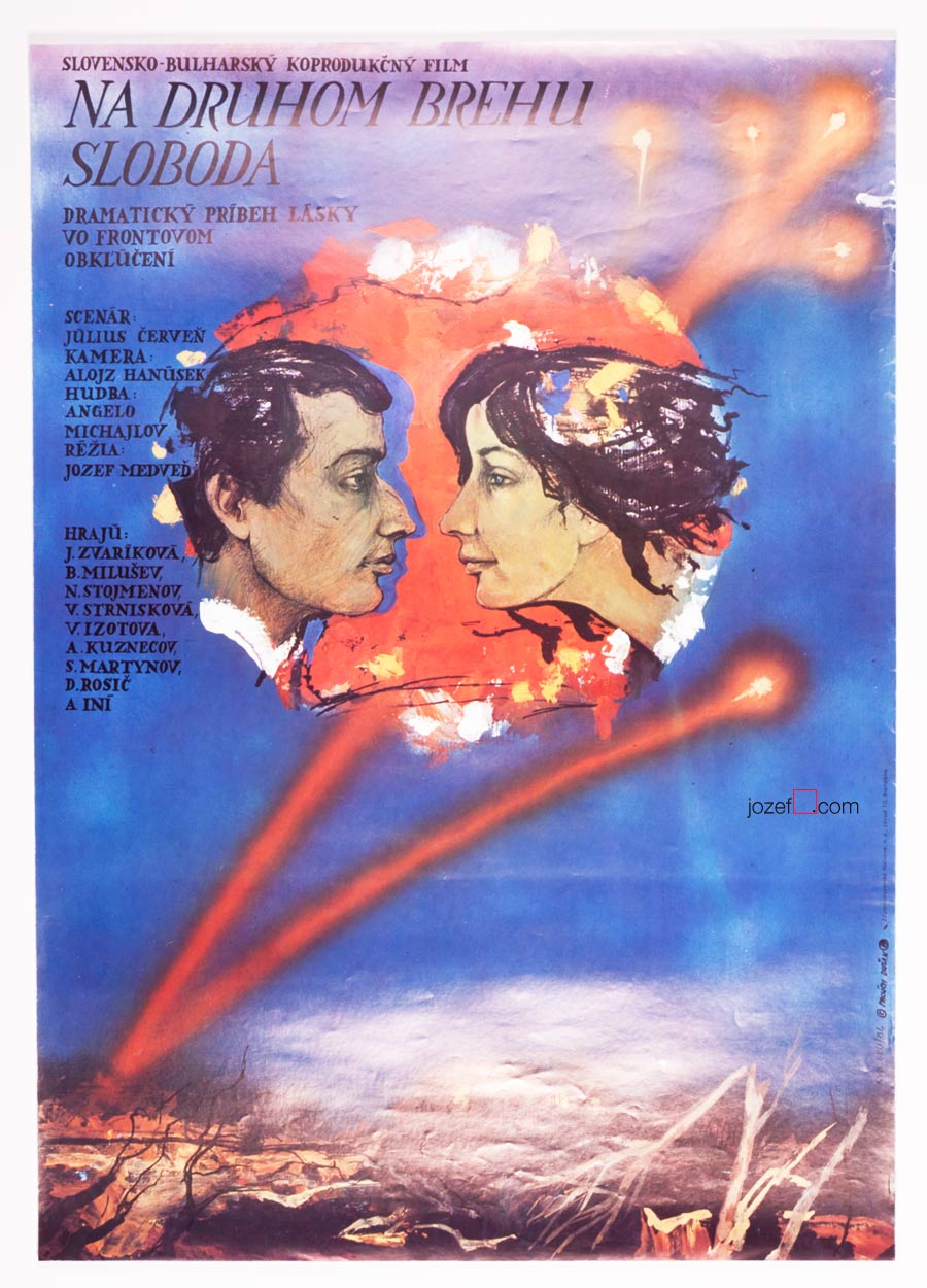 Romantic movie poster, Liberty Is on the Opposite Bank