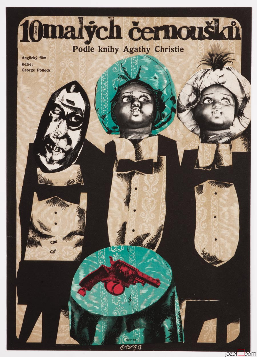Ten Little Indians, Karel Teissig Collage Art