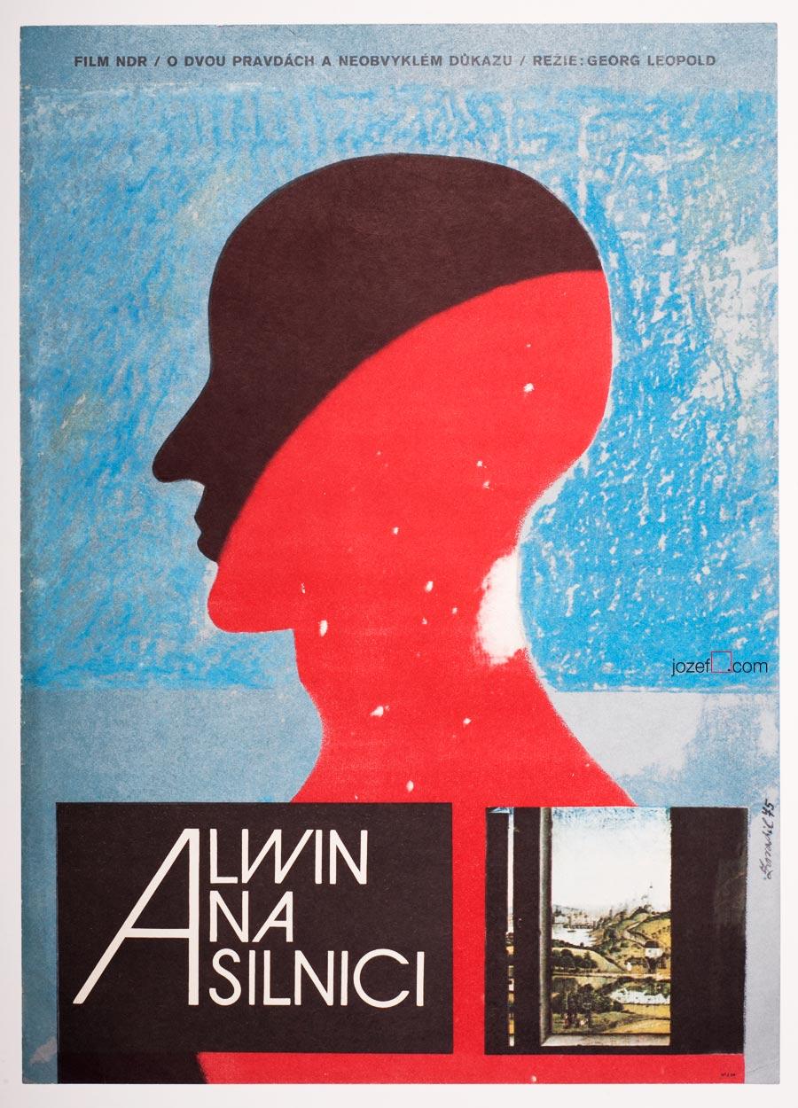 Minimalist movie poster, Alwin On The Road
