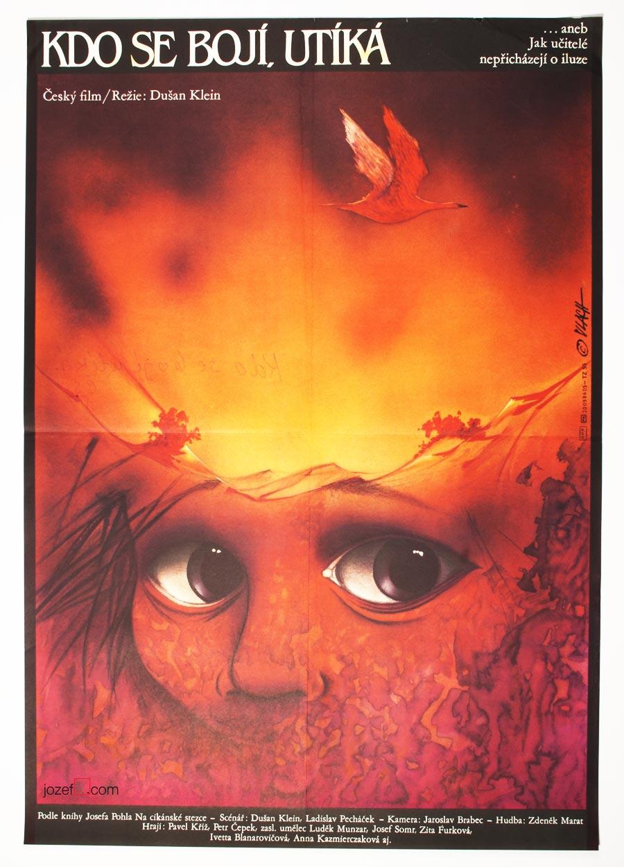 Film Poster, He Who Fears, Flees, 80s Poster Art