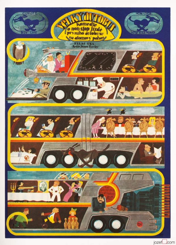 Movie Poster, The Big Bus, 70s Poster Art
