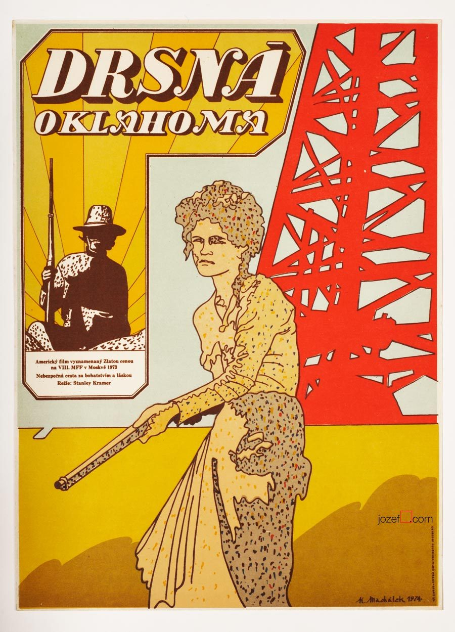 Oklahoma Crude, 70s Poster Art, Karel Machalek