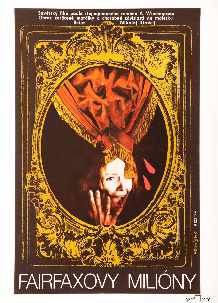 Karel Teissig 80s Poster, Fairfax's Millions