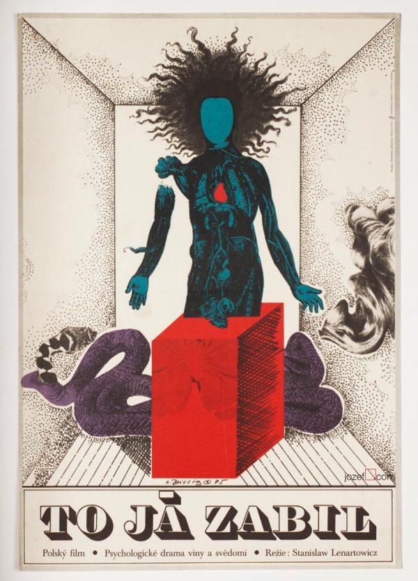 Karel Teissig, I Killed, 70s Poster Art