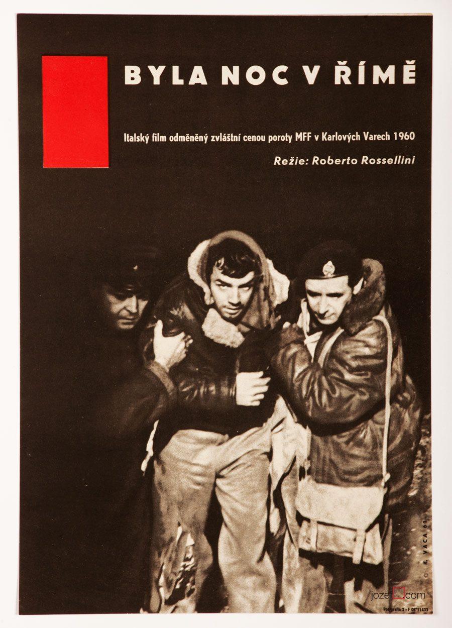 Escape by Night, Roberto Rossellini, 60s Poster Art
