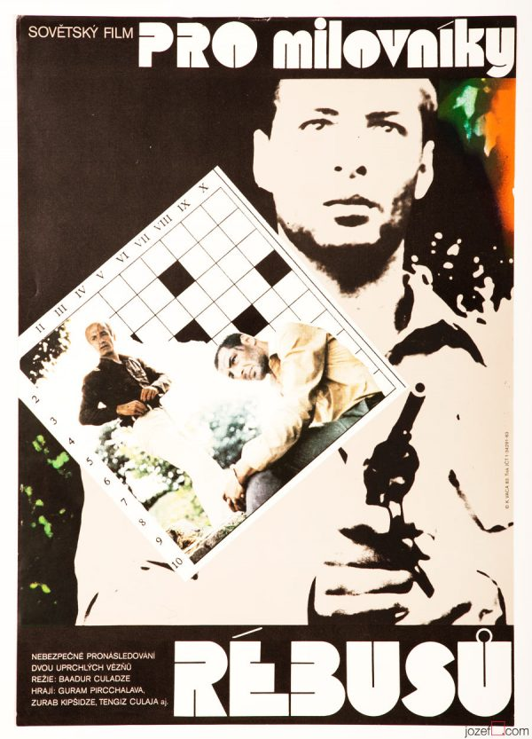 Movie Poster, For Crosswords Lovers, Karel Vaca 80s Art Poster