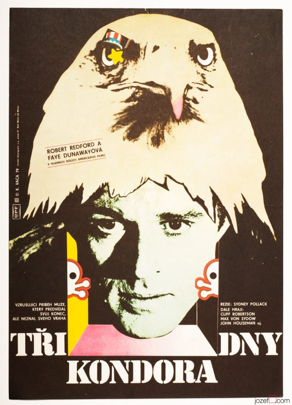 Three Days of the Condor Movie Poster, 70s Poster Art