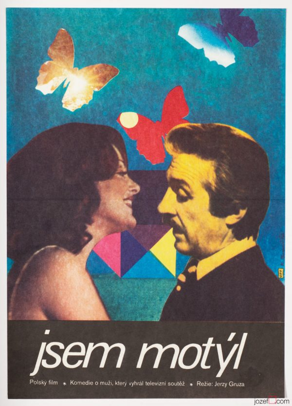 Movie Poster, I'm a Butterfly, 70s Poster Art