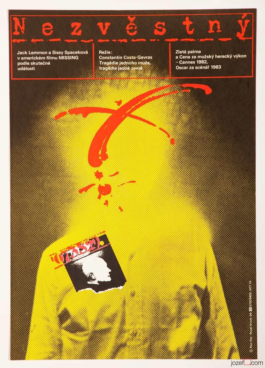 Missing, Jack Lemmon, 80s Movie Poster