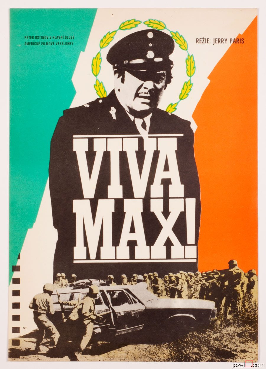 Viva Max Movie Poster, 70s Poster Art