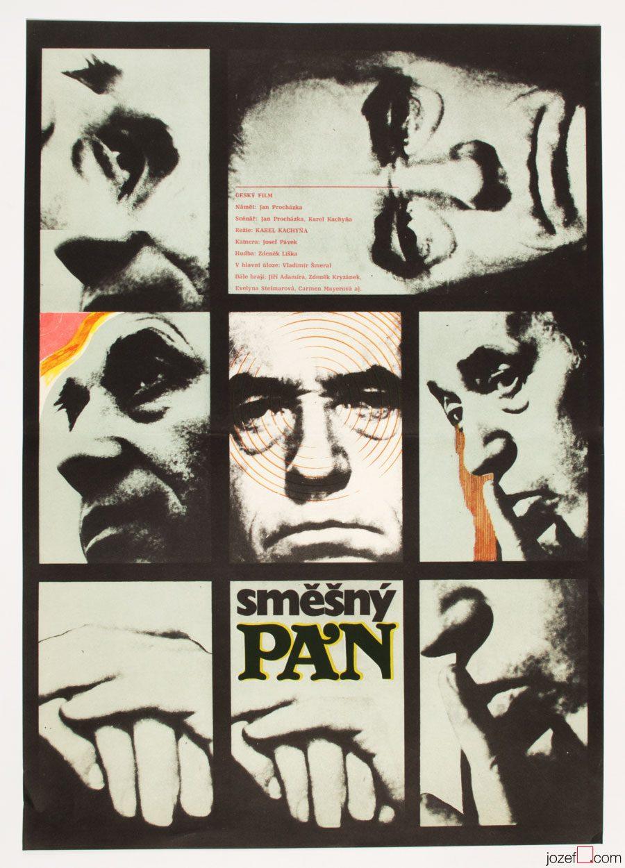 Funny Man, Zdenek Ziegler, 60s Poster Art