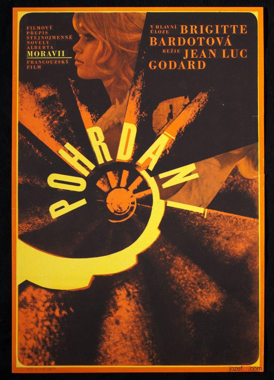 Le Mepris, Jean-Luc Godard, 60s Poster Art