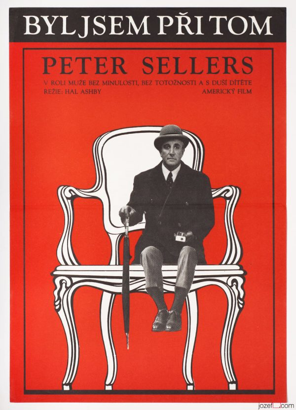 Peter Sellers Being There, 80s Movie Poster Art