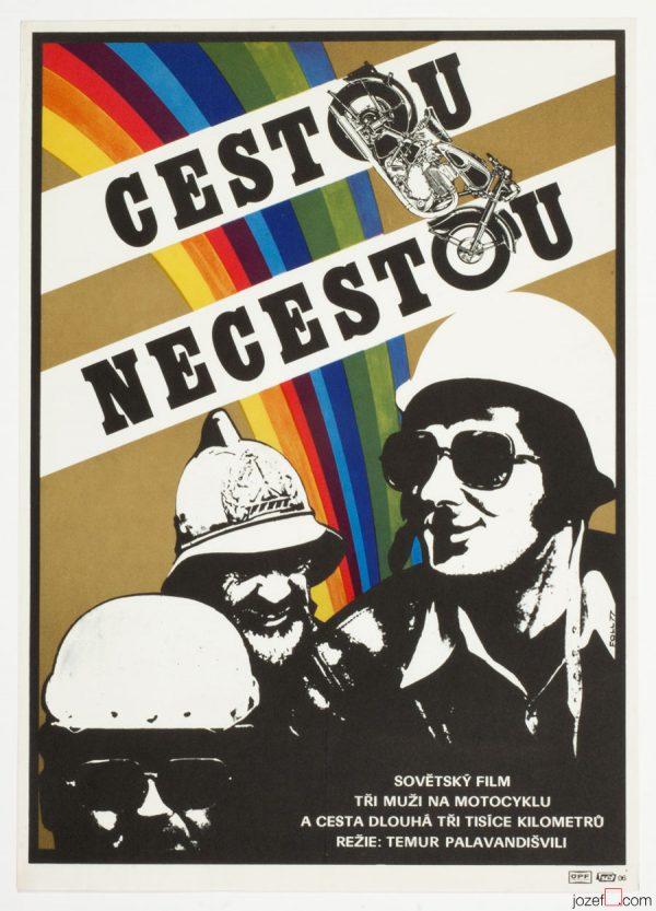 Motorbikes Movie Poster, Errantry, 70s Minimalist Poster