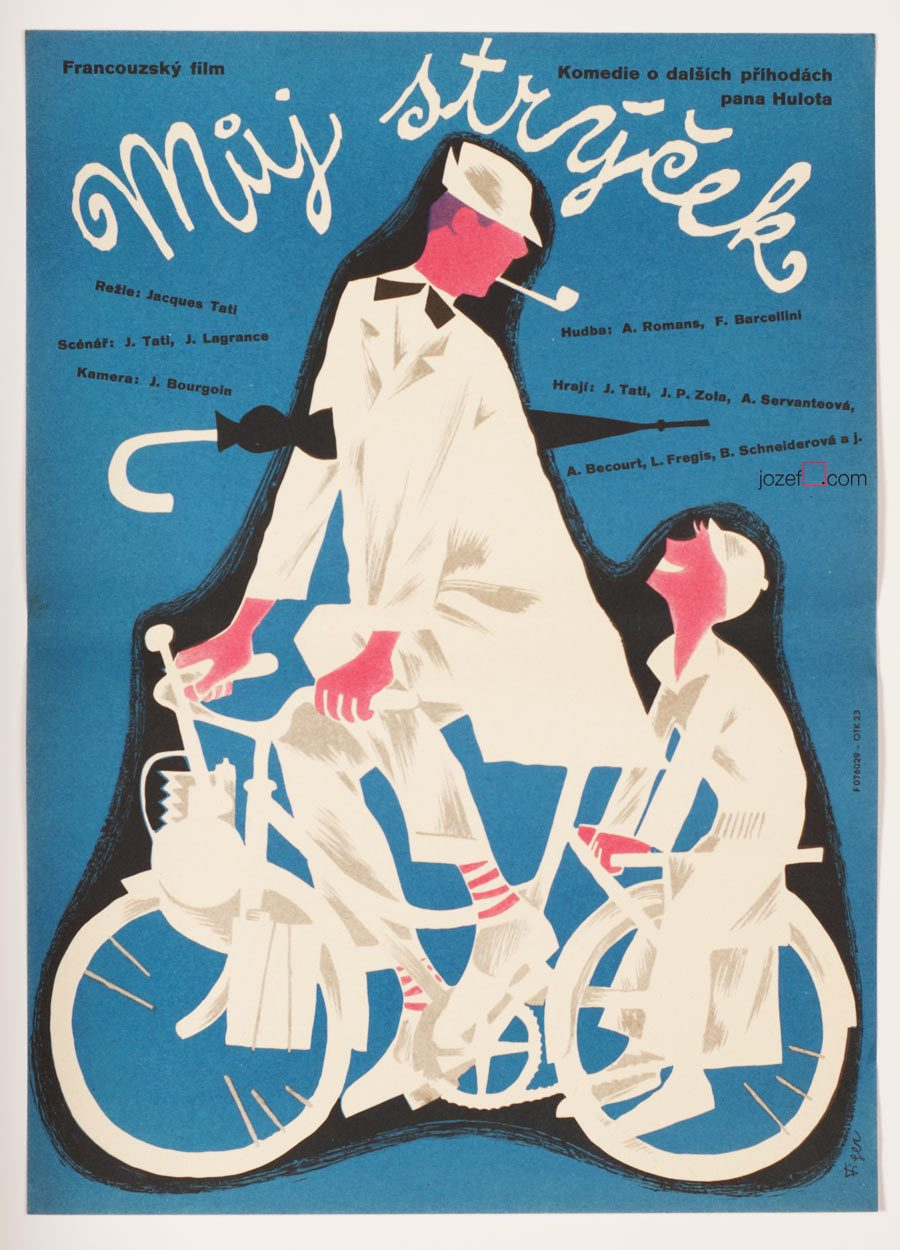 Mon Oncle Movie Poster, 50s Poster Art