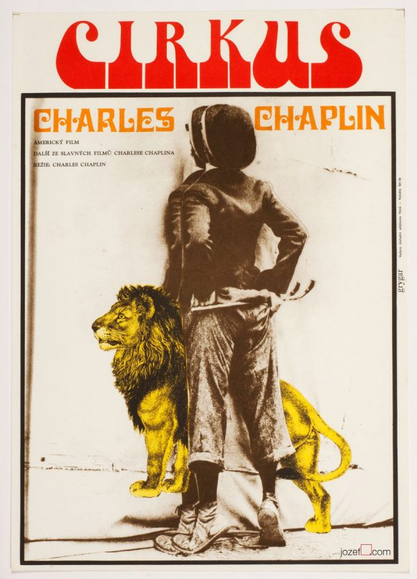 The Circus, Charlie Chaplin, 70s Movie Poster