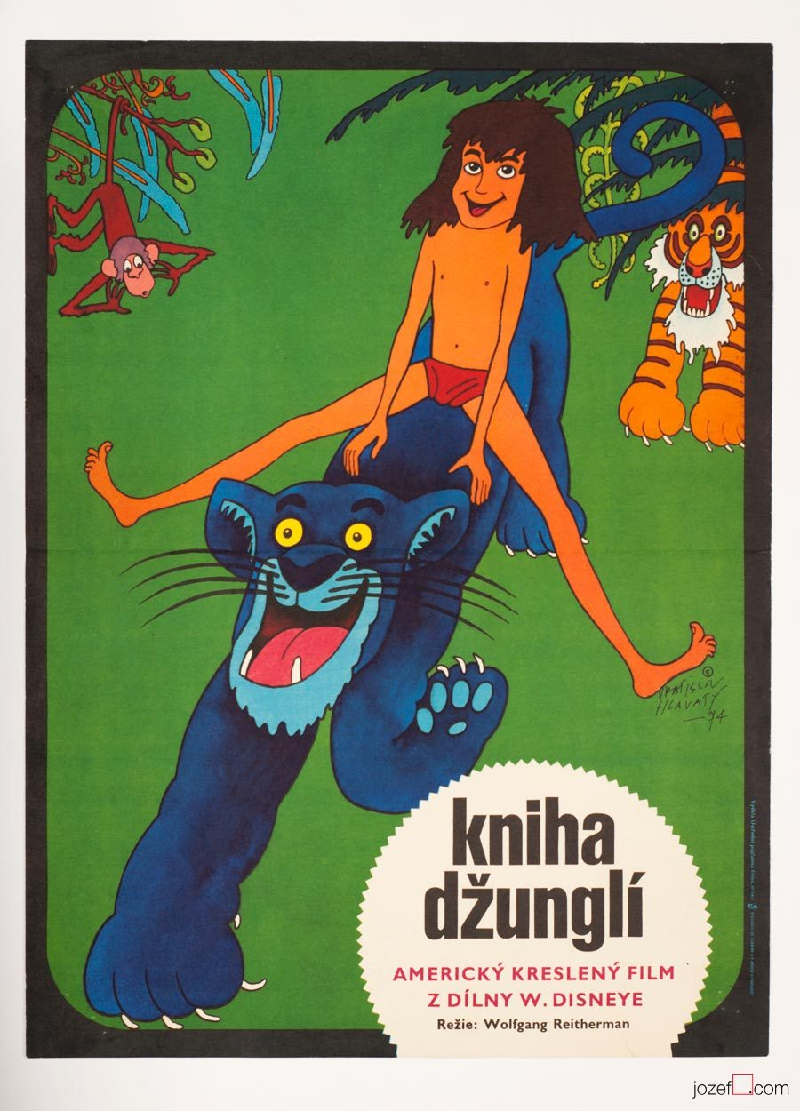 The Jungle Book Poster, Kids Movie Poster