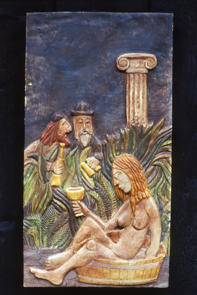 Wood Carving Susanna and the Elders