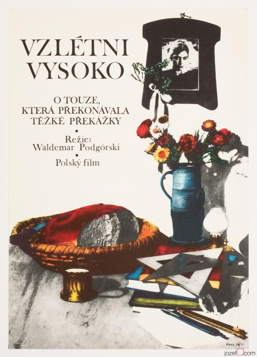 Fly High Movie Poster, Dobroslav Foll Artwork