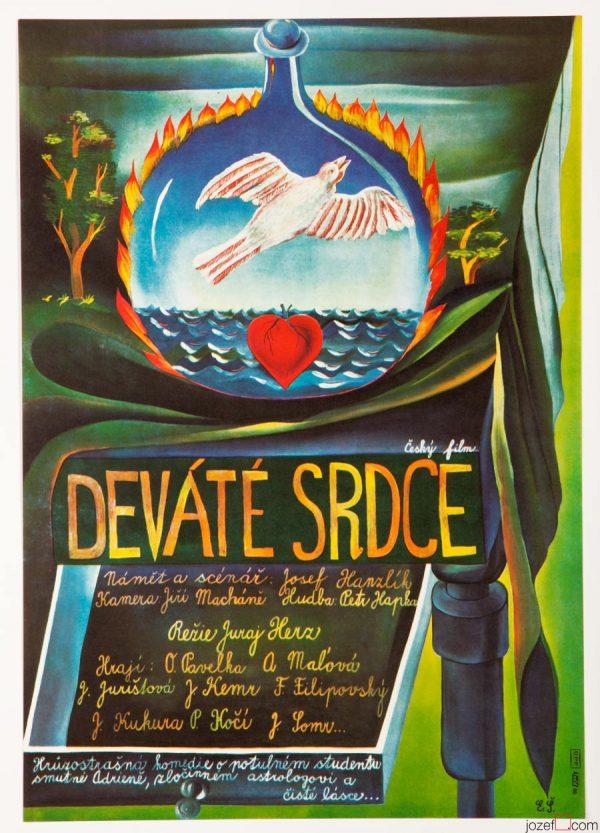 The Ninth Heart Movie Poster, Eva Svankmajerova Artwork