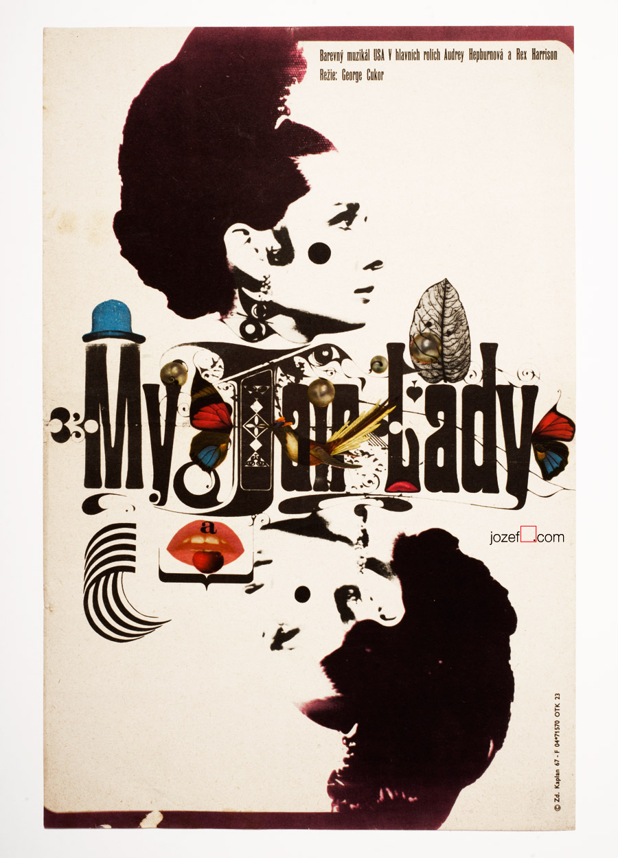 My Fair Lady Movie Poster, 60s Vintage Poster Art
