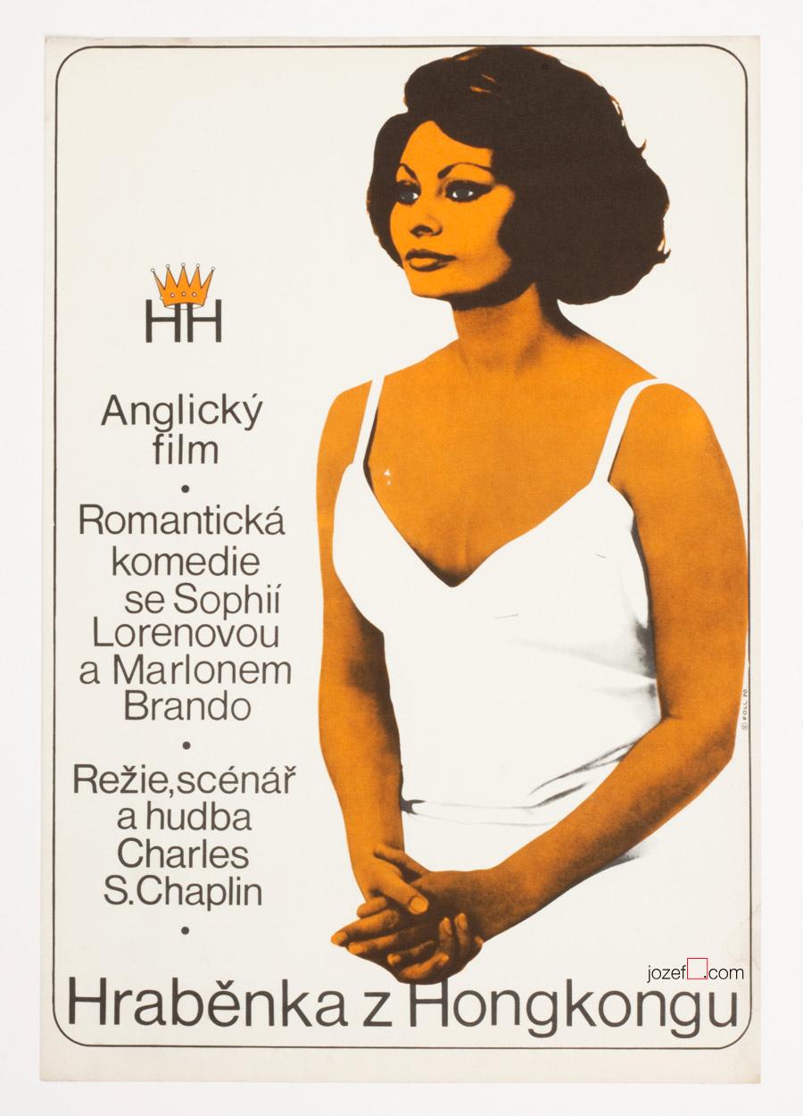Countess from Hong Kong Movie Poster, 70s poster Art