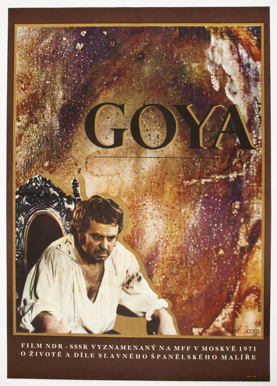 Goya Movie Poster, 70s Poster Design