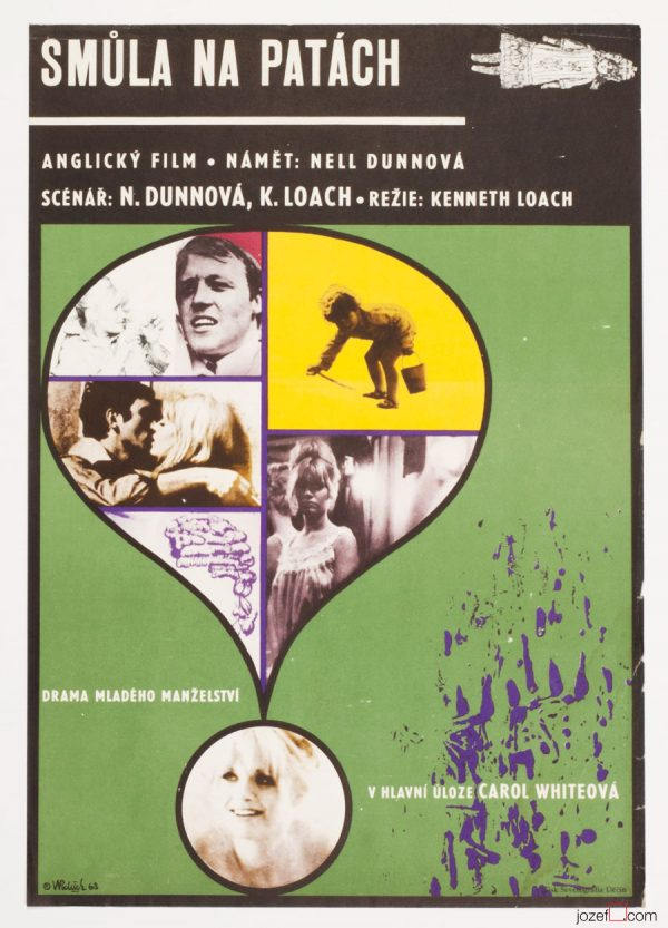 Poor Cow Movie Poster, Ken Loach, 60s Poster Art