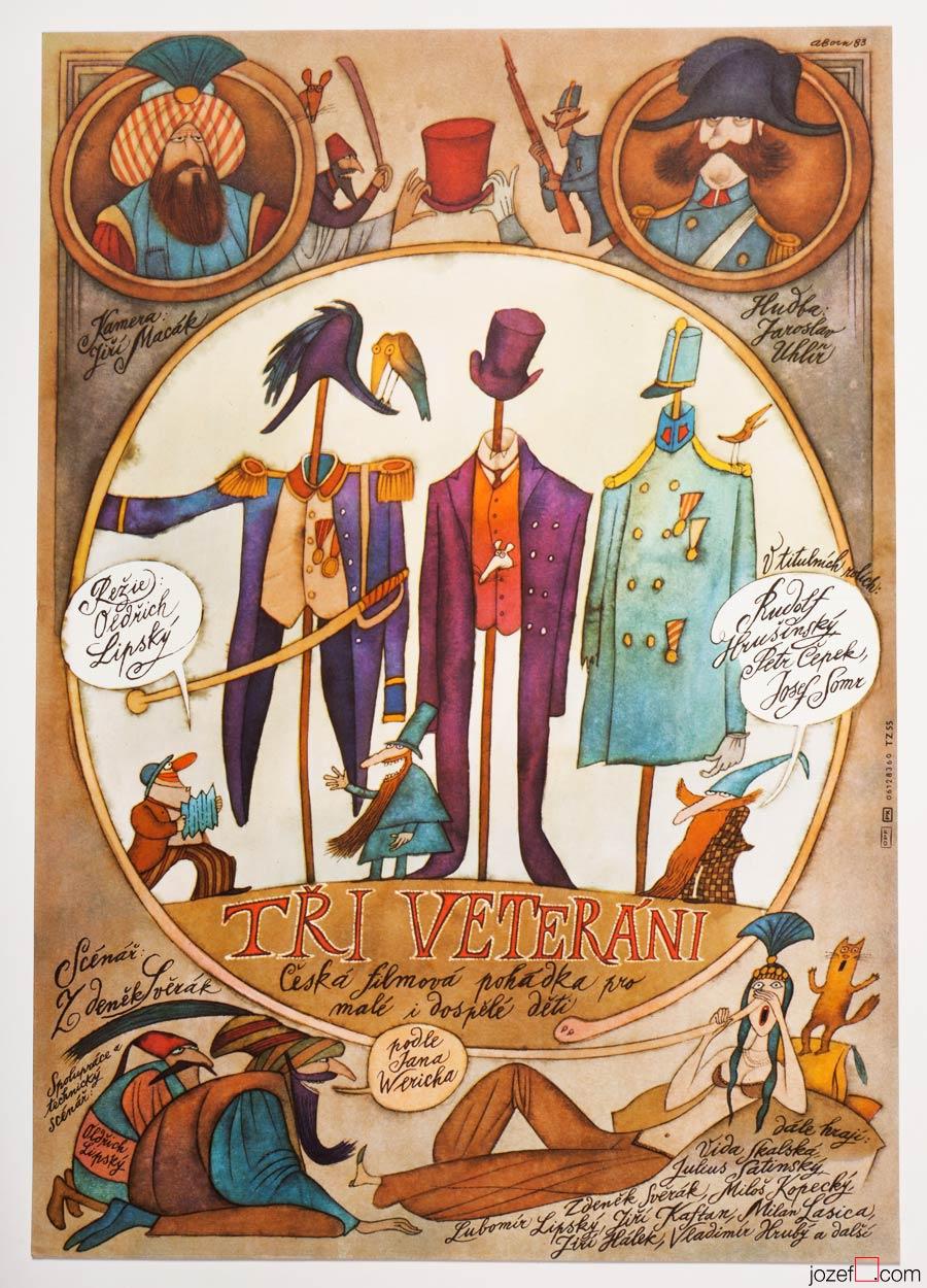 Three Veterans, Kids Movie Poster, Adolf Born