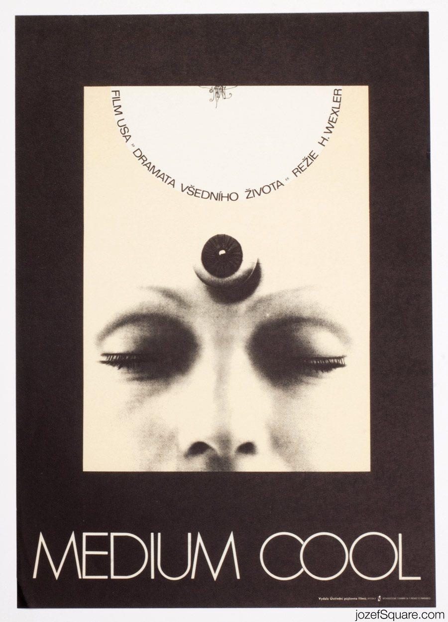 Medium Cool Movie Poster, Minimalist Poster Art