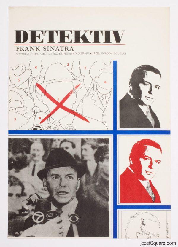 The Detective Movie Poster, Frank Sinatra, 60s Artwork