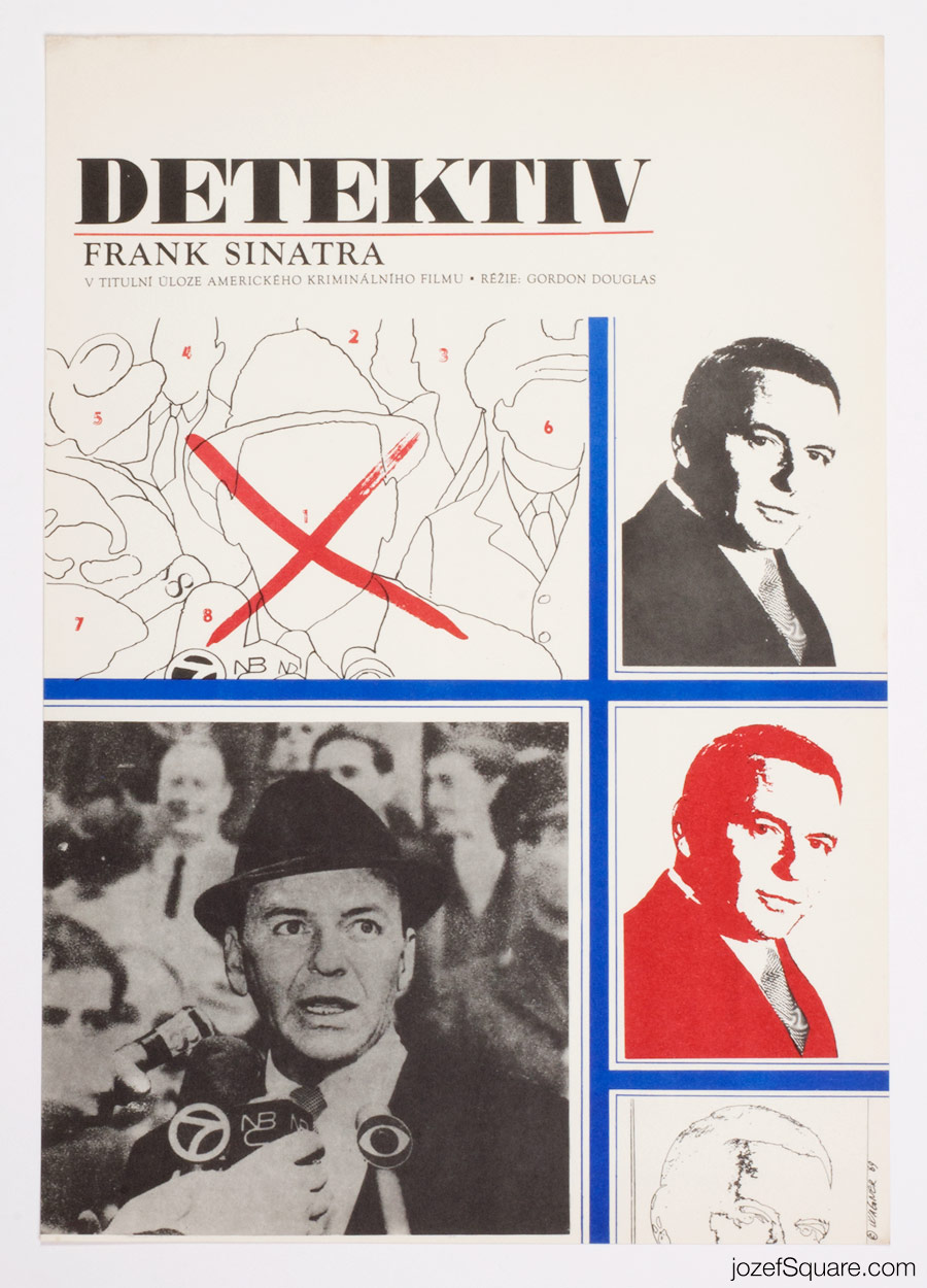 The Detective Movie Poster, Frank Sinatra, 60s Artwork