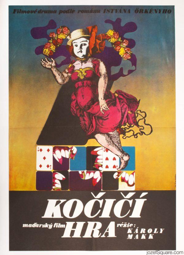 Cat's Play Movie Poster, 70s Hungarian Cinema