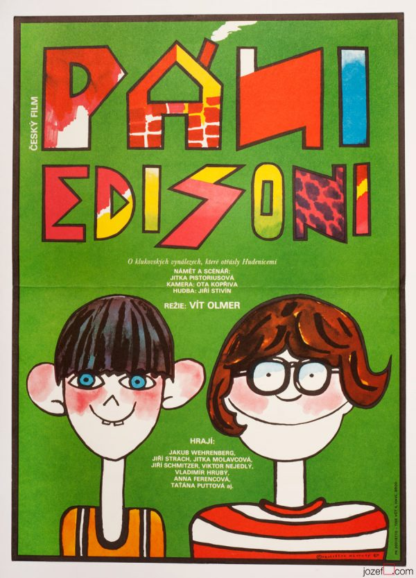 Young Edisons Kids Movie Poster, 80s Artwork
